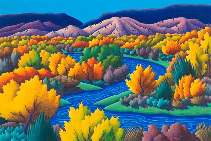 Reina - color pencil landscape drawings